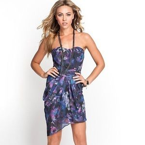 Guess Bombay watercolor Floral Night Out Dress
